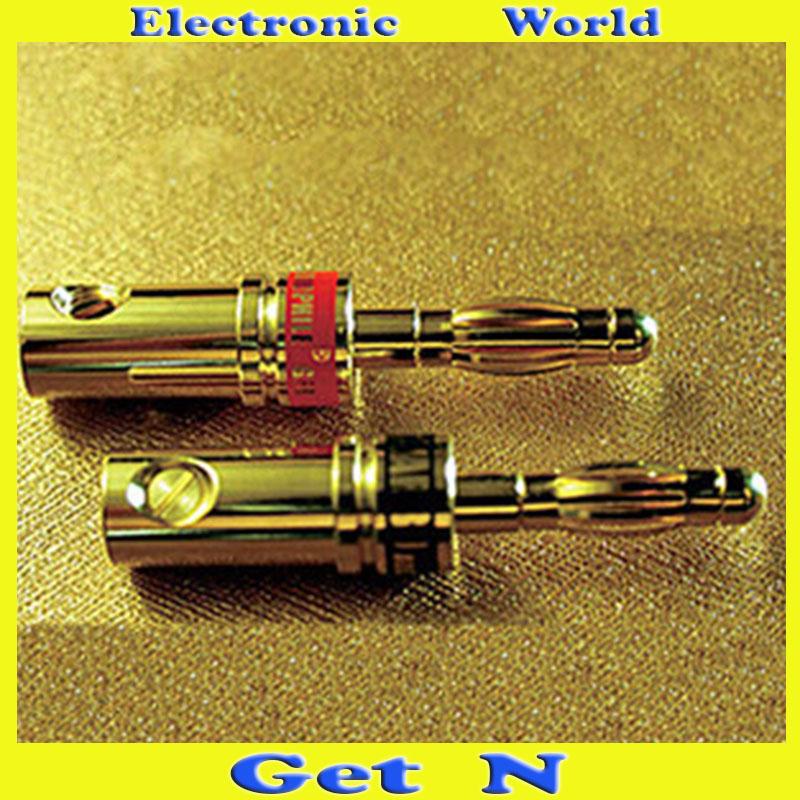 2pcs YARBO SC:03B-L Banana Connectors Gold Plated Banana Plug/Jack Bananan Socket<br><br>Aliexpress