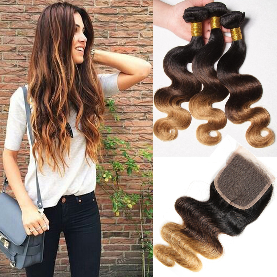 Cheap Top Quitly Peruvian Virgin Hair With Closure Ombre Blonde Peruvian Virgin Hair Bod Wave With Lace Frontal Closure Ombre<br><br>Aliexpress