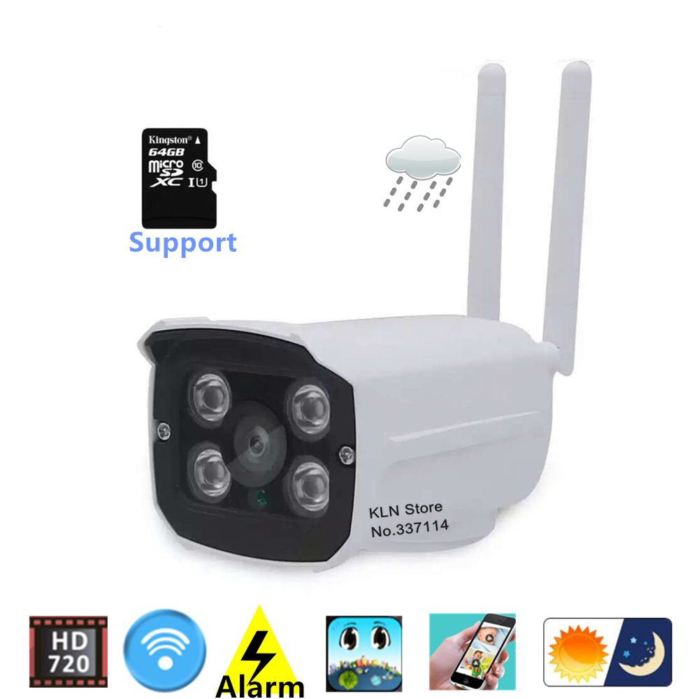 Ip Cctv Camera Wifi 720p HD MicroSD Card slot Night Vision Webcam Remotly View by PC Smartphone Android Ios for Home Security.(China (Mainland))