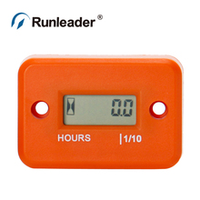 LCD Inductive Water Proof hour Meter timer engine motocross Gas RL-HM006 for ATV snowmobile jet ski outboard lawn mower tractor(China (Mainland))