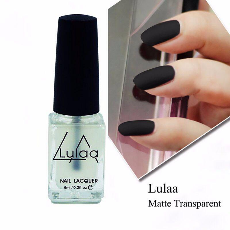 Nail Polish Magic Super Matte Transparent Nails Art Gel Frosted Surface Oil Nail Polish 1Pcs 6ML(China (Mainland))
