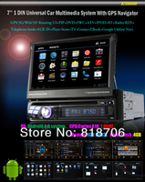 Автомагнитола 1din dvd gps 7/android 4.0 WiFi 3G IPOD 1 , 1 KS8600