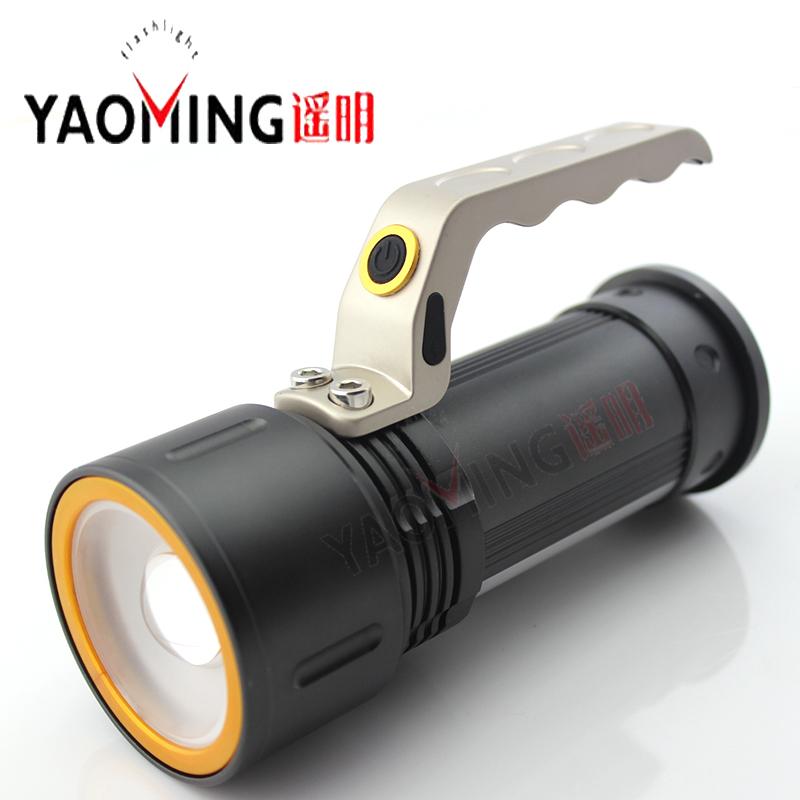 Searchlight flashlight led Cree Q5 2000LM led hand lamp light rechargeable lantern torch 18650 battery powerful led flashlight(China (Mainland))