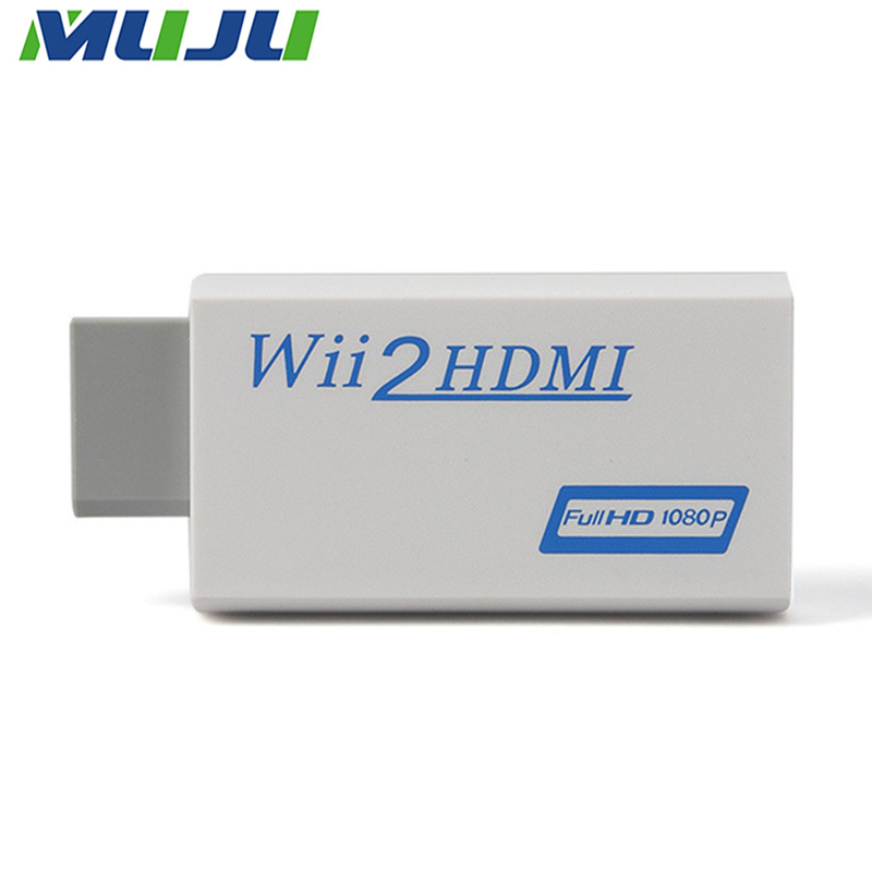 20pcs/lot White For Wii to HDMI Adapter Wii2HDMI Converter Support FullHD 1080p 3.5mm Audio Video Output Wii Link Monitor TV PC(China (Mainland))