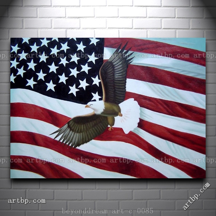 About Art shop painting  Abstract American Flag Art