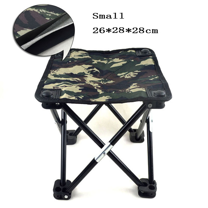 New 2016 Camouflage Portable Small Fishing Chair Stool Folding Mini Camping F