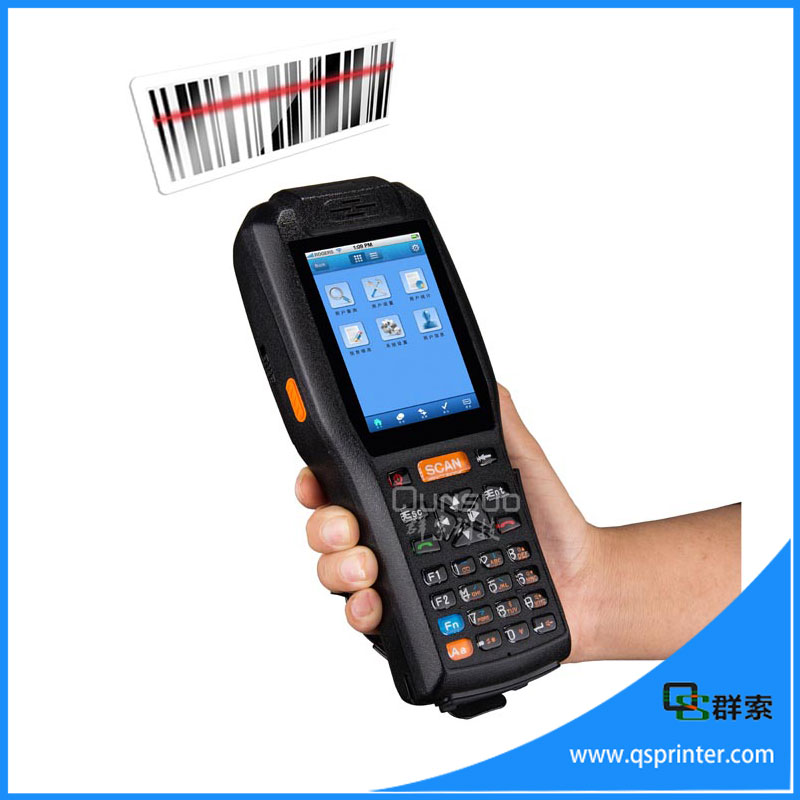 PDA3505 industrial bluetooth wireless terminal handheld pda with printer, Android wireless QR code scanner(China (Mainland))