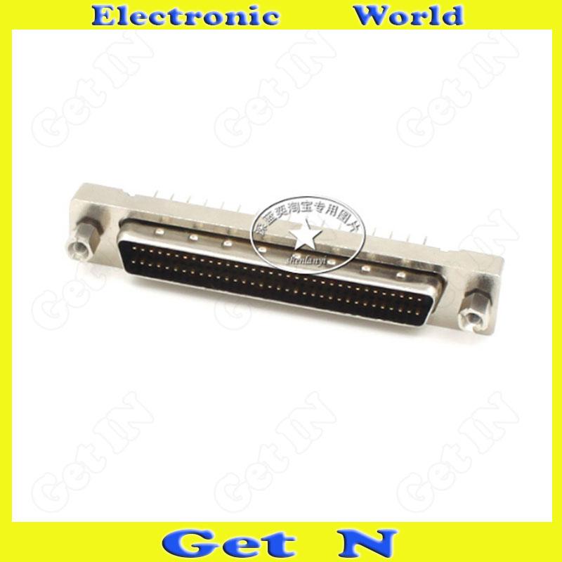 5pcs MDD68MS-180 SCSI HPDB68 Connector Male Head Straight Leg Adapter 68PIN PCB Board Pin Plug(China (Mainland))