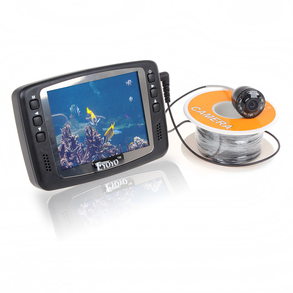 Free Shipping!8 IR LED 1000TVL 3.5 Color LCD Monitor Underwater Ice Video Fishing Camera System 15m Cable Visual Fish Finder<br>