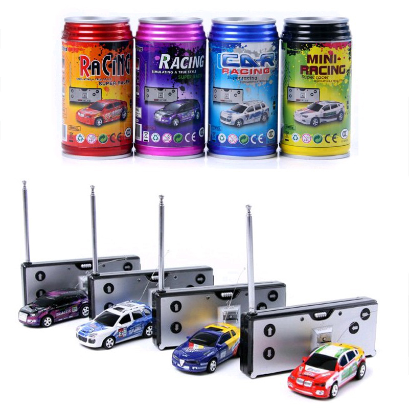 Coke Can Mini rc Car Speed Mini Radio Remote Control Micro Racing Vehicle Cars Control Remoto Electric Toy With Different Colors(China (Mainland))
