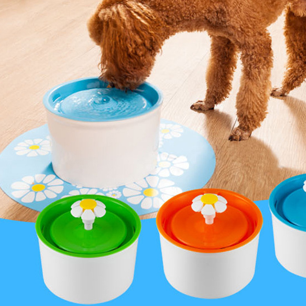 Flower Sytle Automatic Electric 1.6 L Pet Water Fountain Dog/Cat Drinking Bowl With Corner Fit Feature(China (Mainland))