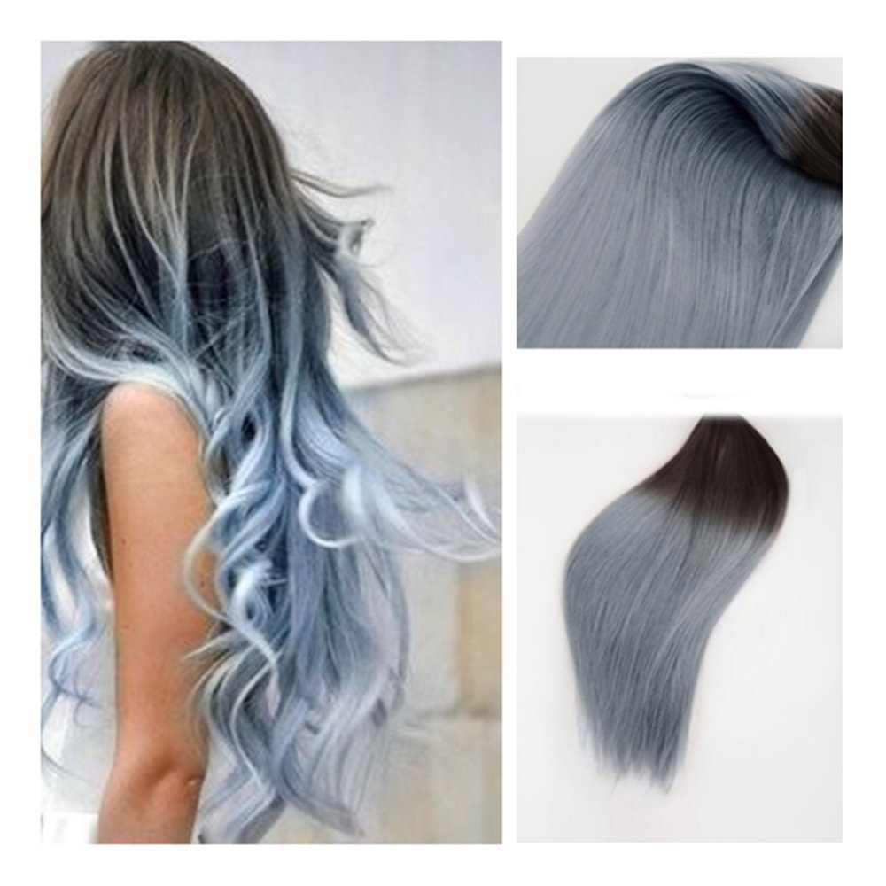 service complet remy cheveux extensions balayage cheveux extensions 1b argent gris ombre ombre. Black Bedroom Furniture Sets. Home Design Ideas
