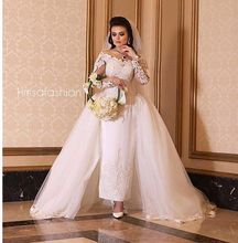2016 Vintage Bridal Gown Overskirt Off the Shoulder Long Sleeve Ankle Length Wedding Dresses with Detachabe Train(China (Mainland))