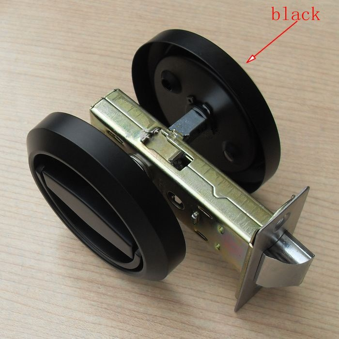 Fashion Black Stainless Steel Recessed Hood Lock Cup
