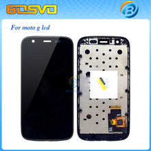 Replacement for Motorola moto g lcd xt1032 xt1033 display screen with touch digitizer with frame assembly 1 piece free shipping