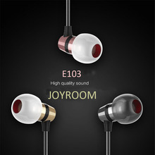 Original Joyroom E103 In Ear Earphone 3.5MM Stereo music Headset Dynamic Earbud Dynamic Aerospace Aluminum Alloy With Mic