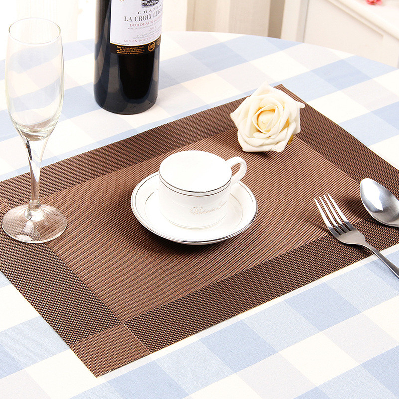 30*45cm Placemats PVC Kitchen Dinning Table Placemat Table Mat Kitchen Tools Tableware Pad Coaster Coffee Tea Mat 4pcs/lot gray(China (Mainland))