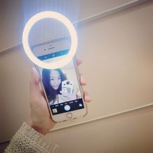 Mobile Phone LED Selfie Ring Flash 3 Modes Lighting Luminous Case For iPhone 5s 6S Plus LG G5 Samsung S6 S7 Huawei Android Phone(China (Mainland))