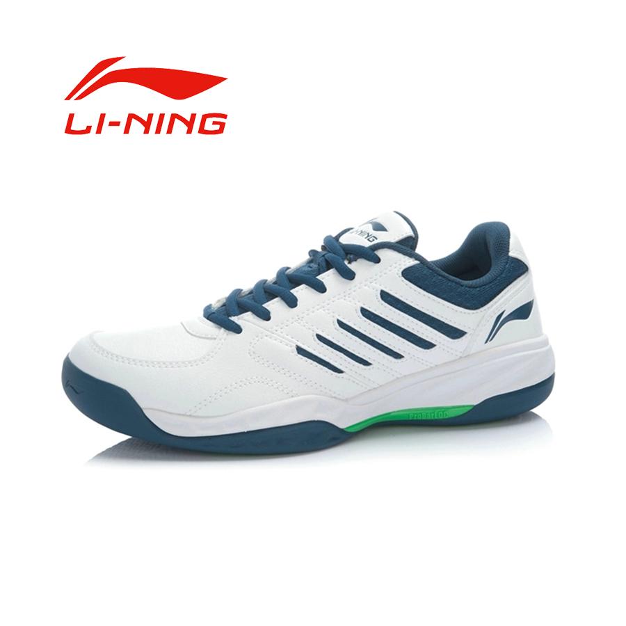 Li-Ning Men's Simple Damping Outdoor <font><b>Tennis</b></font> <font><b>Shoes</b></font> Li Ning PU Anti-slip Cushioning Wear-resisting Sports Sneakers
