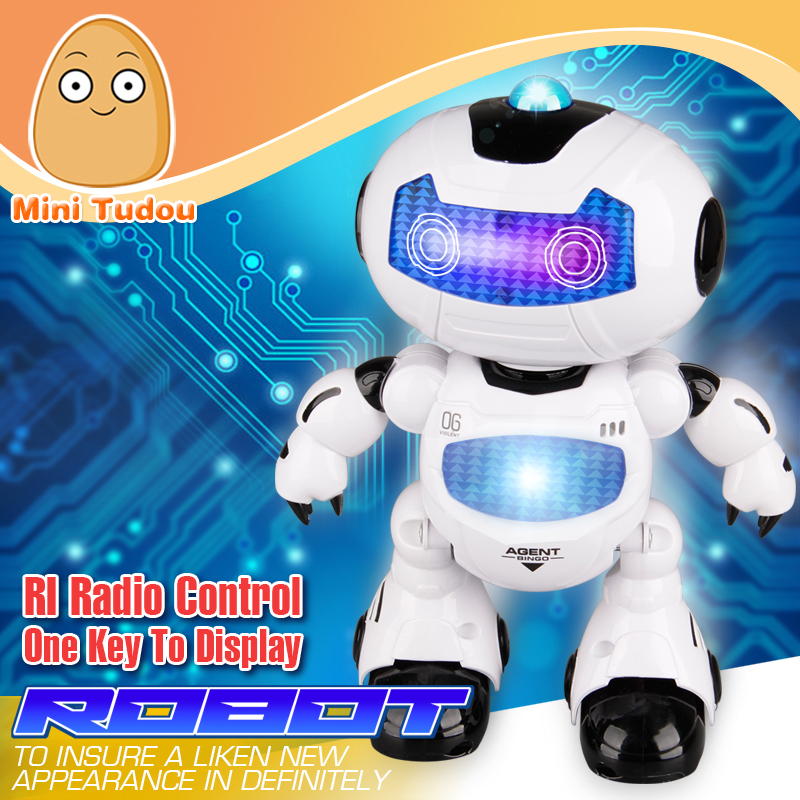 Minitudou 2016 Figure Action Learning & Education Infrared Remote Control Toy RC Robot Toys Electronic Intelligent Girls Boys(China (Mainland))