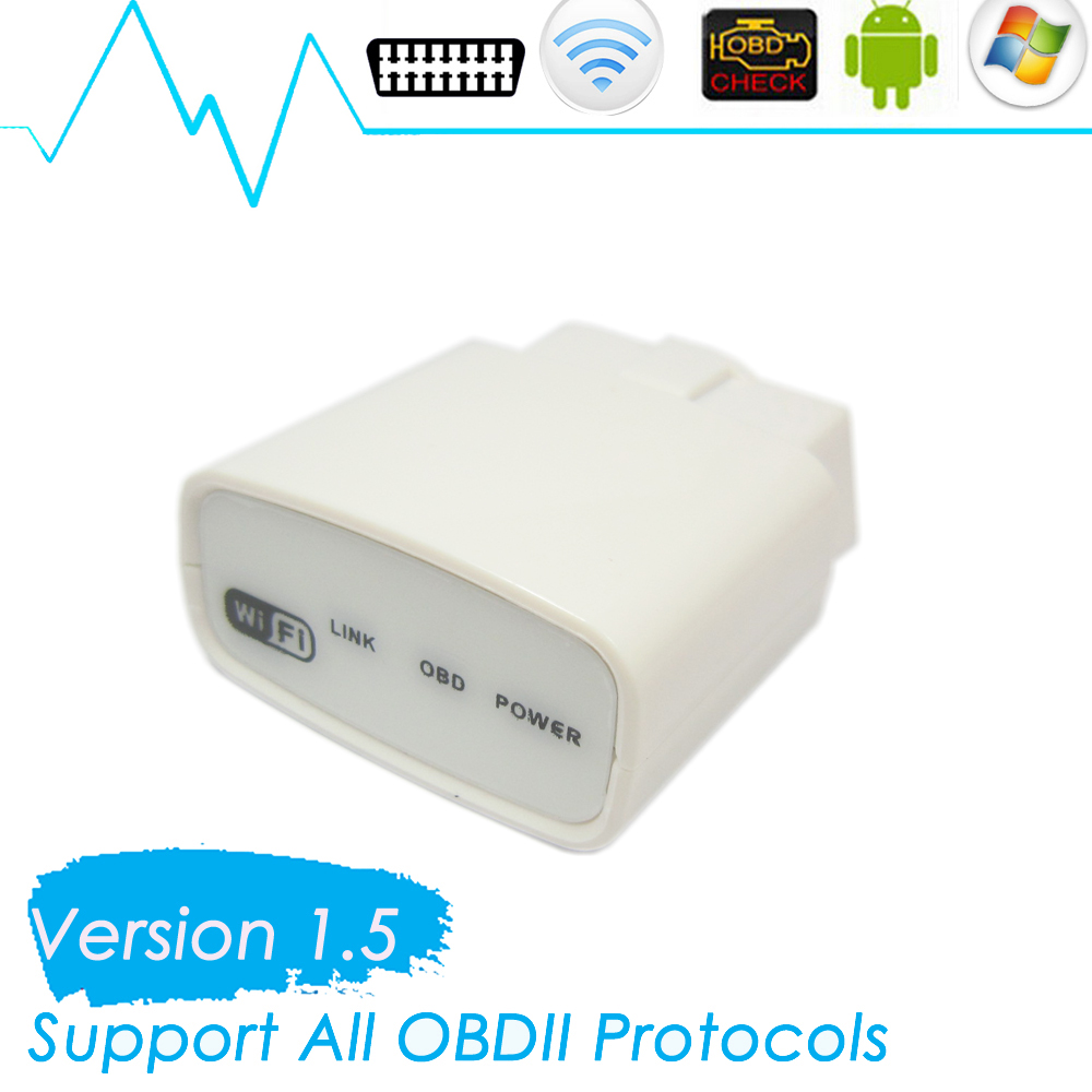 OBD2 ELM327 WIFI EOBD Scan Tool Support for iOS and Android wifi elm327 Auto OBDII Code Reader(China (Mainland))