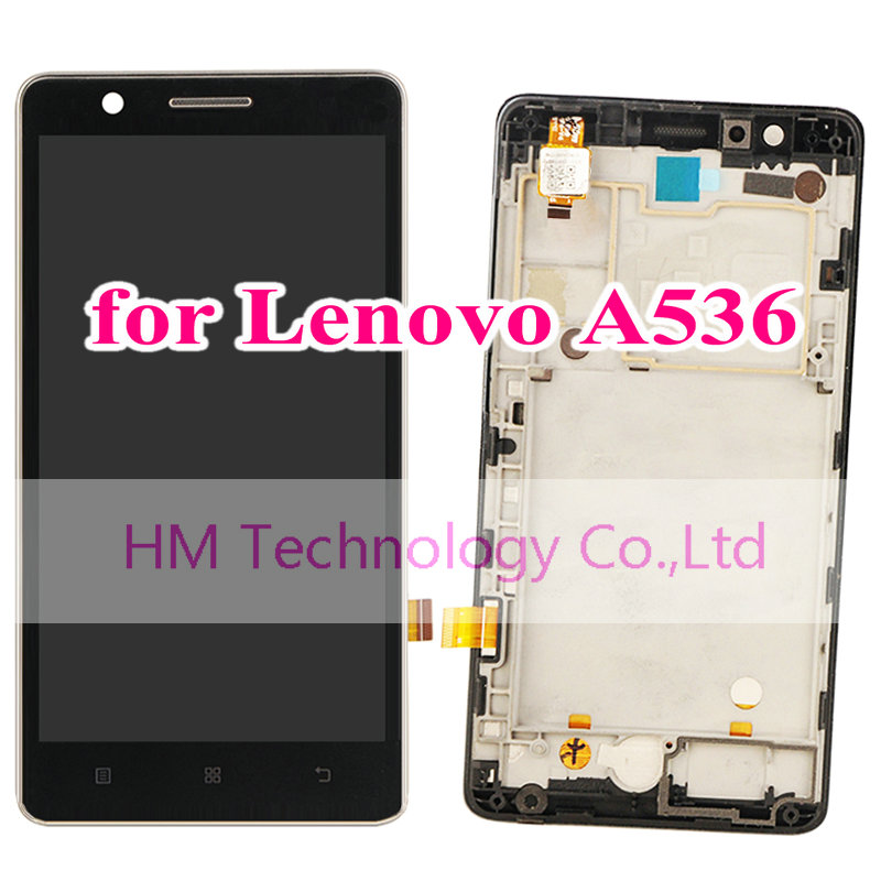 Black LCD+TP+Frame for Lenovo A536 /5.0