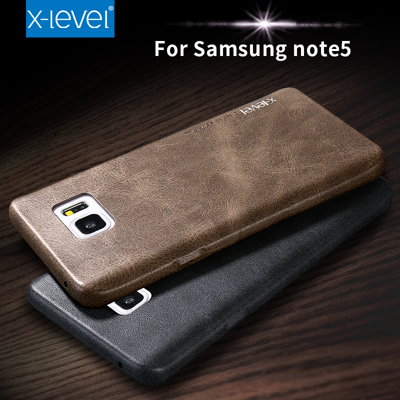 X-Level New Leather Phone Case For Samsung Galaxy Note 5 Ultra thin Protective Back Cover For Samsung Note5(China (Mainland))