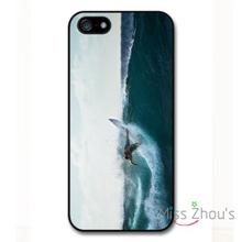 For iphone 4/4s 5/5s 5c SE 6/6s plus ipod touch 4/5/6 back skins cellphone cases cover Surfer Waves Surfboard Beach Holiday