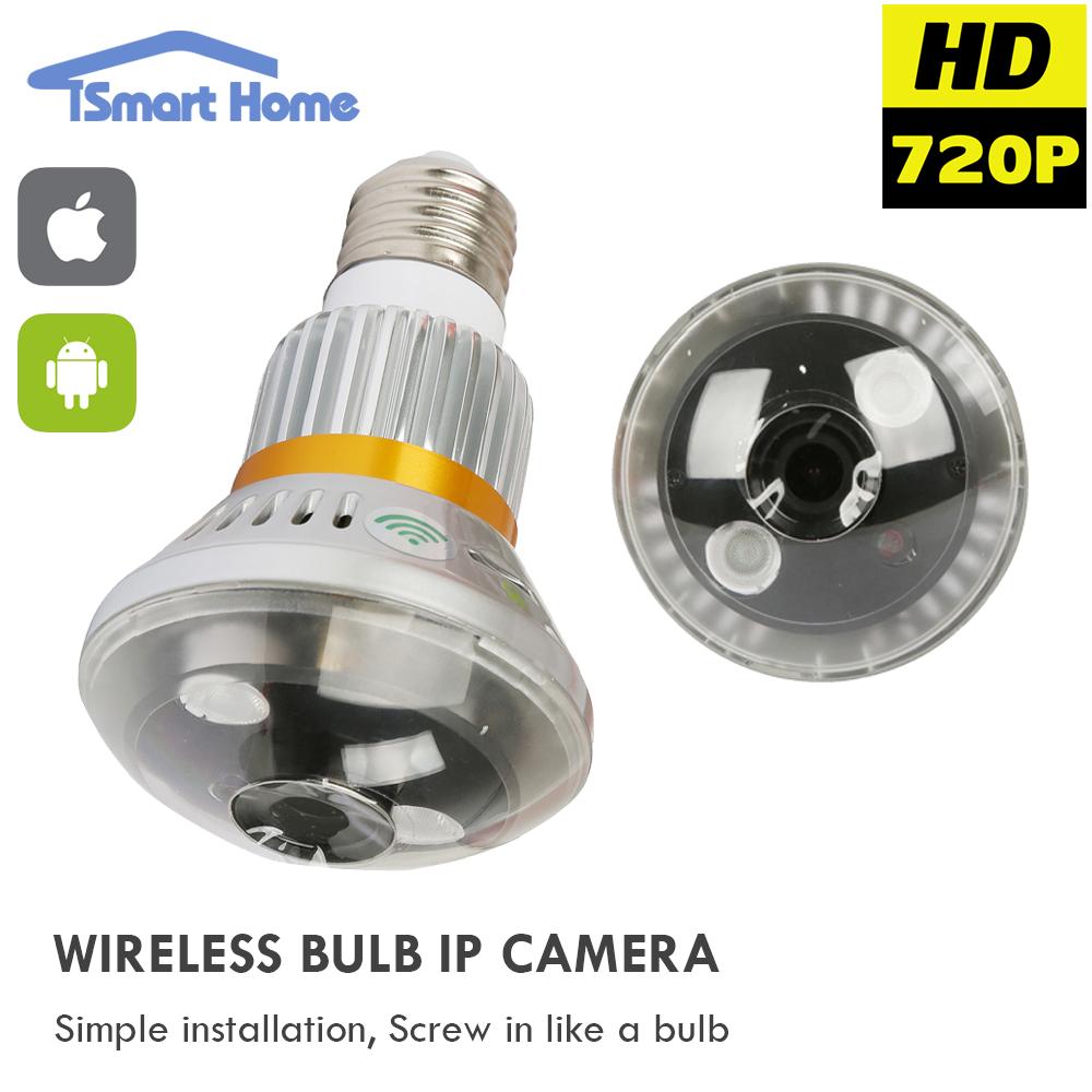1MP Smart Wifi IP MINI Bulb Lamp Camera Wireless P2P Micro Network Camera CCTV Night Vision 720P Surveillance Home Protection(China (Mainland))