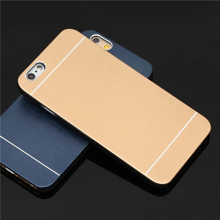 hot sale luxury phone case for iphone 5 5s i phone5s ipone anti-knock abs shell and brushed metal panel back cover(China (Mainland))
