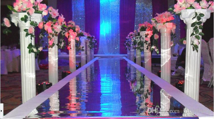 White Plastic Roman Columns Road Cited For Wedding Favors Party Decorations Hotels Shopping Mall