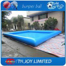 8*6*0.65mH  inflatable  water pool,walking water ball pool,giant swimming pool balls,human hamster ball in pool(China (Mainland))