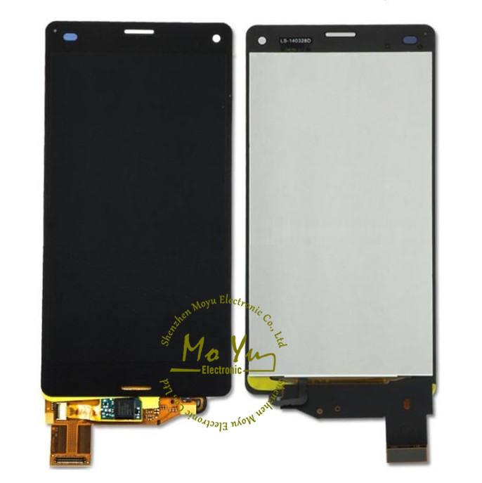 Full assembly Z3 mini screen replacement for Sony Xperia Z3 Compact Lcd Z3 Mini Lcd D5803 D5833 mobile phone spare parts(China (Mainland))