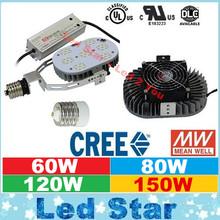 Super Bright Outdoor Lighting 60W 100W 120W 150W Cree Led Retrofit kit 5000K E27 E40 Led Lights With MeanWell Drives AC 110-277V(China (Mainland))