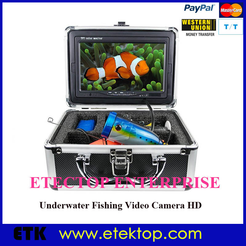 """1200TVL Underwater Fishing Camera Underwater Inspection CCD Camera 7"""" LCD monitor 15m Cable Ice Lake River Sea Real-time Live(China (Mainland))"""