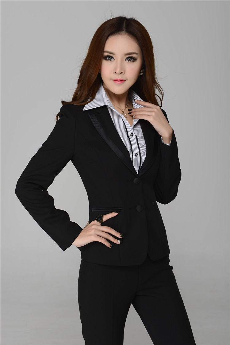 autumn winter women suits pant business suits elegant ladies work wear