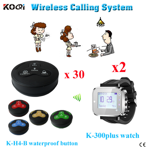 Hot sell CE certificate 433mhz wireless service calling system for call waiter restaurant service button(China (Mainland))