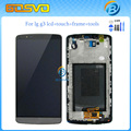 High quality Replacement lcd display with touch screen digitizer frame for LG G3 D855 lcd D850