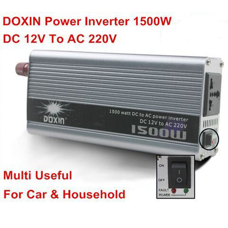 Powerful DOXIN 1500W Power Inverter 12vV 220V Car Inverter For Car Charger Home Power Supply Voltage Converter With 2 LED Light<br><br>Aliexpress