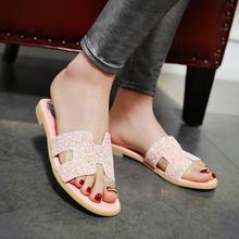 Buy 2016 summer Simple Women Shoes slip-on flat heel Solid color Flip-Flops Peep Toe flat sandals big size 34-39 T654 ) for $23.97 in AliExpress store