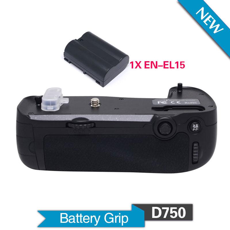 Майке Mk-D750 вертикальная батареи ручка с 1шт АН-EL15 для Nikon D750 DSLR камеры как Mb-d16 и