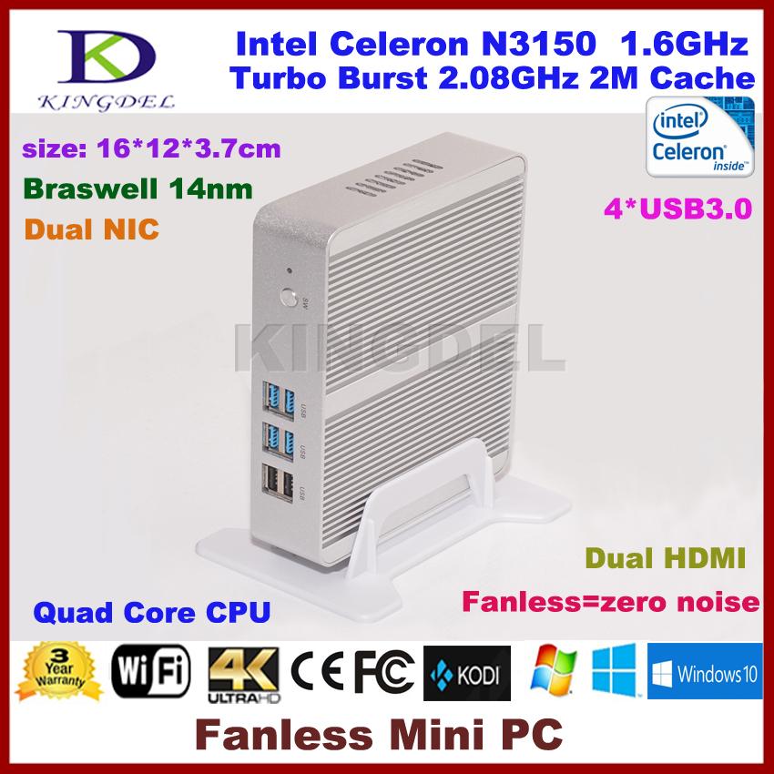 Best price Micro pc mini computer Windows 10 OS, Intel Celeron N3150 Quad Core, DR3L RAM+SATA SS, HDMI, LAN, WiFi(Hong Kong)