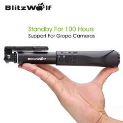 BlitzWolf Extendable Wireless Bluetooth Selfie Sticks Monopod Universal Selfie Stick For Samsung For iPhone 7 6 6S Plus Phones