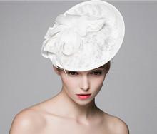 Vintage cappelli da sposa white wedding bridal accessori per capelli fiore birdcage velo copricapo 2016 a buon mercato mini tocados sombreri bodas(China (Mainland))