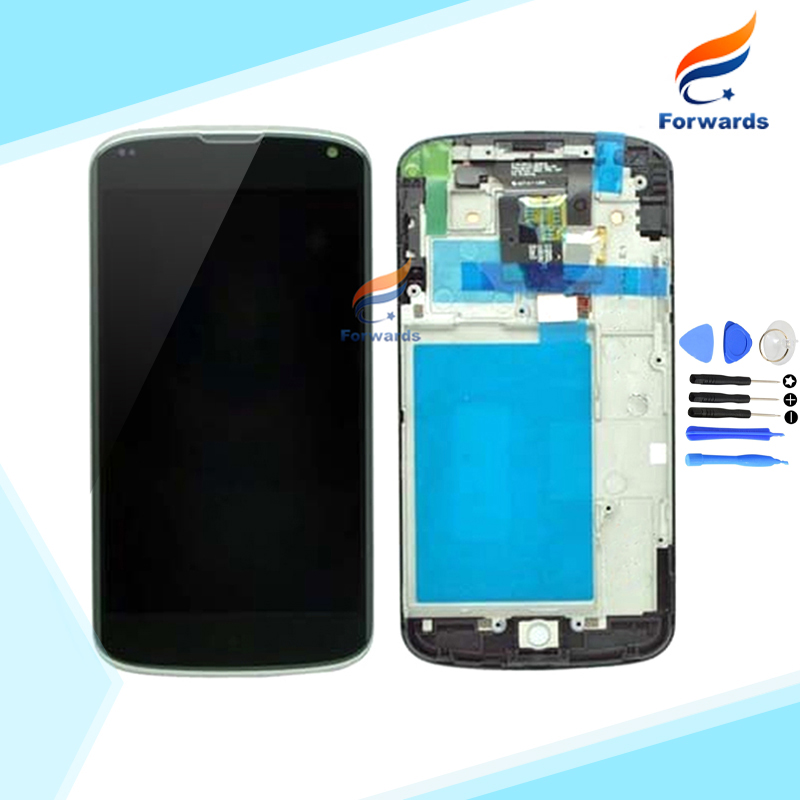 Brand new replacement parts for LG Nexus 4 E960 LCD screen display with touch digitizer frame