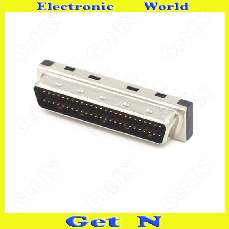 5pcs MDD50MA-180 SCSI Plug Straight Pin Connector PCB Male Head 50PIN DB Type Straight Leg Adapter(China (Mainland))