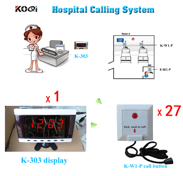 Medical Equipment Hospital Clinic Wireless Nurse Call Service Call System English Voice Emergency Calling Button free shipping(China (Mainland))