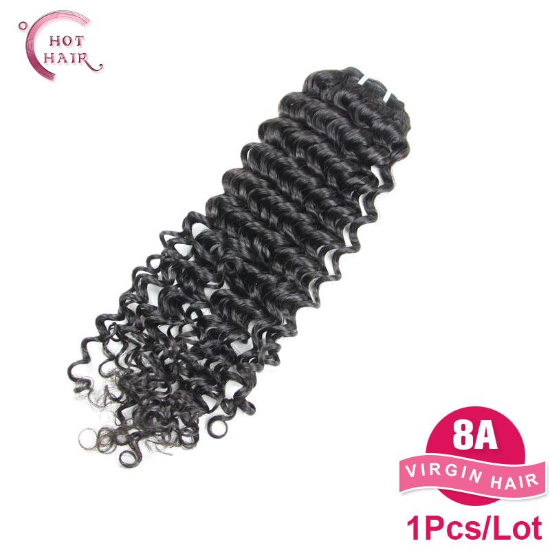 Cheap human hair Malaysian Deep Wave 8A Malaysian Virgin Hair 1 Bundles Malaysian deep curly virgin hair weave maylasian curly(China (Mainland))