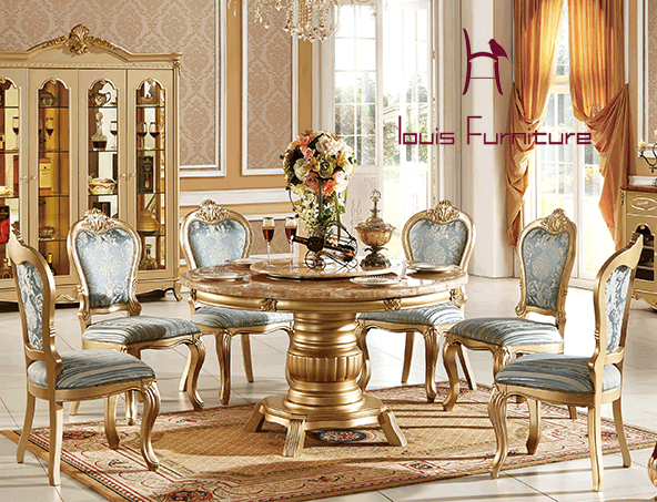 Continental red dragon jade marble round dining tables turntable champagne gold marble dining tables furinture european style(China (Mainland))