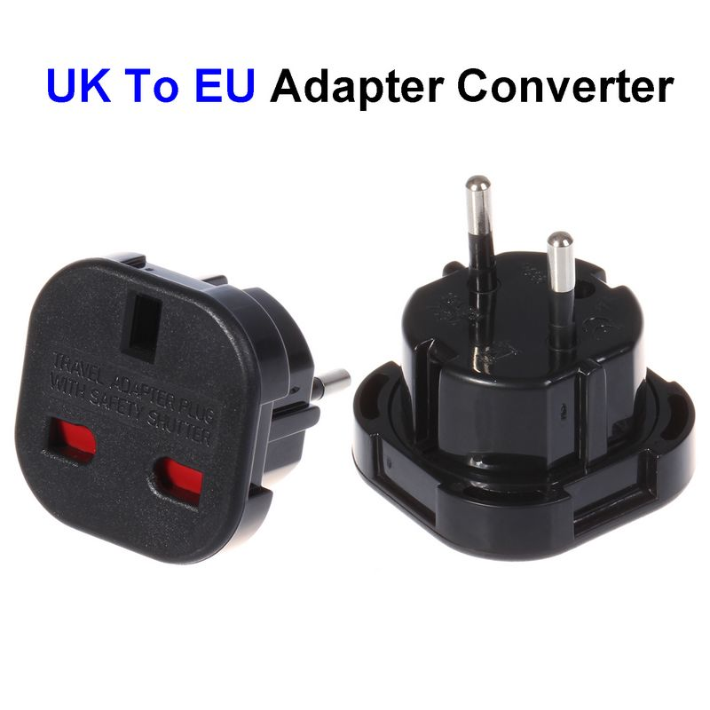 ( 2000 pcs/lot ) UK To EU Plug Adapter United Kingdom To European Universal AC Travel Power Adapter Converter Outlet<br><br>Aliexpress
